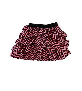 LoFff Ruche skirt Neon pink and black