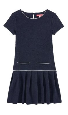 Derhy Kids Lilou dress jersey jacquard knit marine