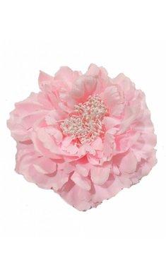 Party haarspeld/broche bloem roze