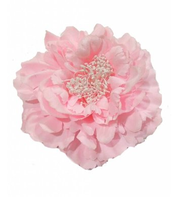 Party hairpin / brooch flower pink