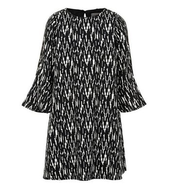Creamie Dress Graphic Black