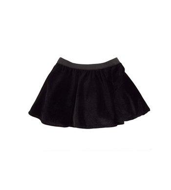 LoFff Flare skirt Black velvet