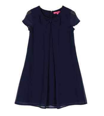 Derhy Kids Guilietta dress bow georgette marine