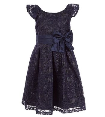 Bonnie Jean dress lurex lace blue