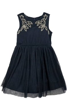 Creamie Dress Beads&Pearls Total Eclipse dark blue