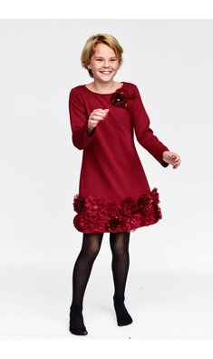 Kate Mack/Biscotti Dress Ruffles and roses red