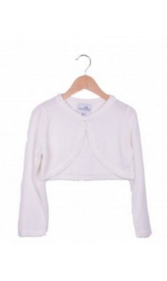 Happy Girls bolero dun gebreid met schulprand white