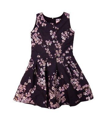LoFff Jacquard dress Flower motive on grey