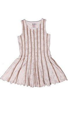 LoFff Dress with bindings Off white - Bronze