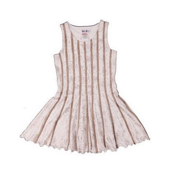 LoFff Dress with bindings Off white - Bronze