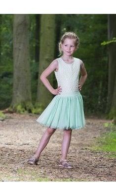 LoFff Dancing Dress Off White - Minty Green