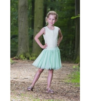 LoFff Dancing Dress Off White - Minty Green