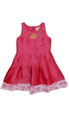 LoFff Border print dress Pink Mulberry silk