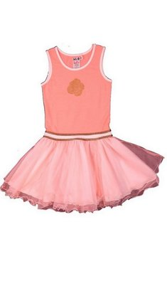 LoFff Single rose dress Bright Peach - bronze