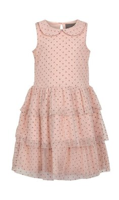 Creamie Dress Mesh Dot  Rose Smoke