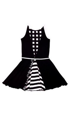 LoFff Panel dress Black - White