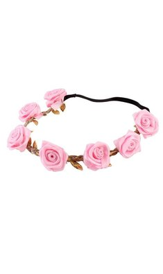 Party bloemenkrans roze