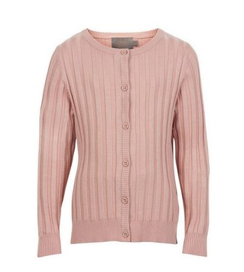 Creamie Cardigan Rib Knit Rose Smoke