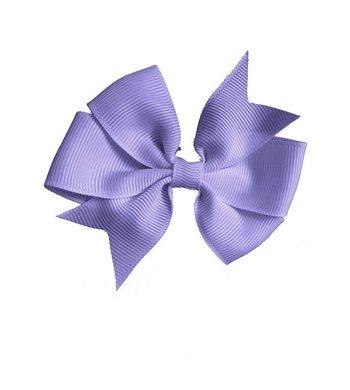 Meisjesfeest Art Collection haarclipje van ripsband lila