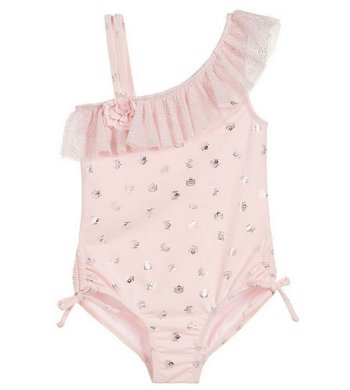 Kate Mack/Biscotti swimsuit ruches pink