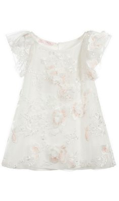 Kate Mack/Biscotti dress flowers offwhite