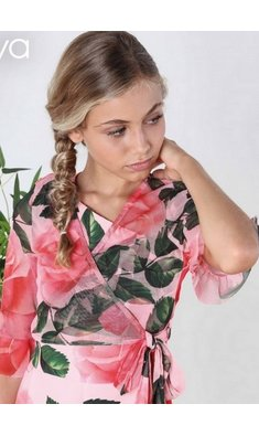 Amaya cardigan mesh roses pink