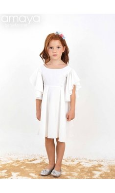 Amaya dress victoria offwhite