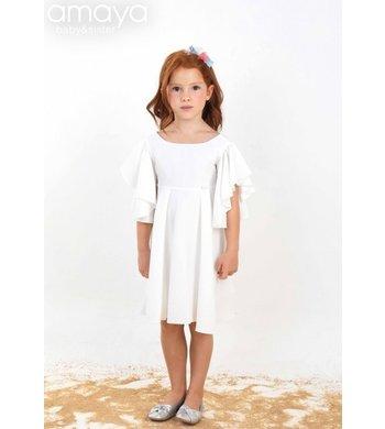 Amaya dress victoria offwhite