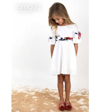Amaya dress offwhite
