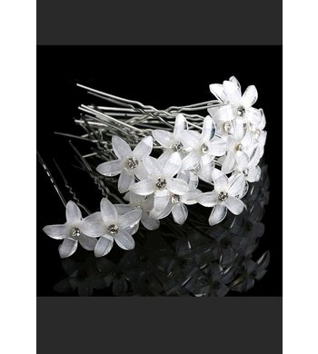 Party hairpins flower (10 st)