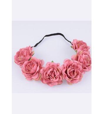 Party bloemenkrans oud roze
