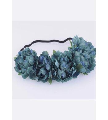 Party bloemenkrans blauw