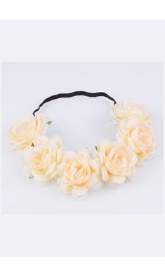 Party bloemenkrans light peach