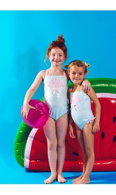Kate Mack/Biscotti swimsuit schell aqua