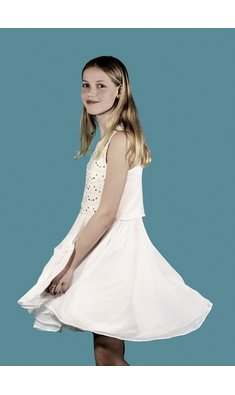 Derhy Kids Idil sequin dress white