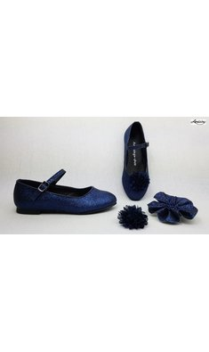 Amézing Shoes ballerina navy blue glitter