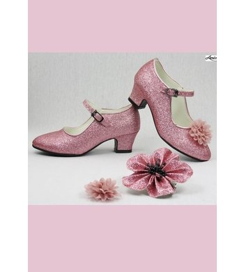 Amézing Shoes heels pink rose glitter