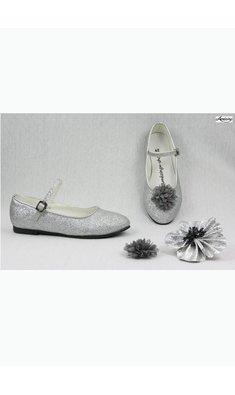 Amézing Shoes ballerina silver glitter