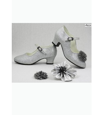 Amézing Shoes heels silver glitter