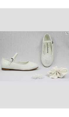 Amézing Shoes ballerina ivoor glitter