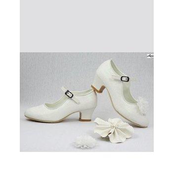 Amézing Shoes heels ivoor glitter
