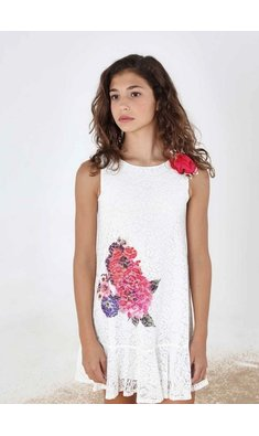 Amaya lace dress offwhite