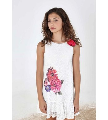 Amaya lace dress offwhite