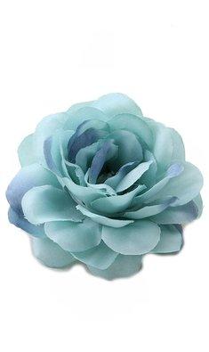 Party haarspeld bloem blauwgroen