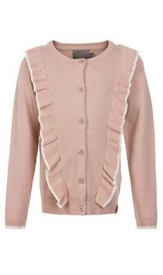 Creamie cardigan flounce pink