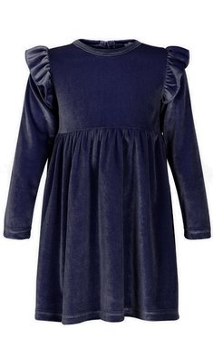 Creamie Dress Velvet dark blue