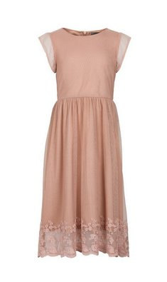 Creamie Dress Embroidery pink