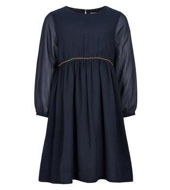 Creamie Dress Chiffon dark blue
