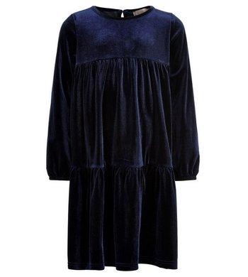 Creamie Velours jurkje total eclipse donkerblauw