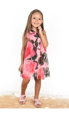Amaya dress flowers pink